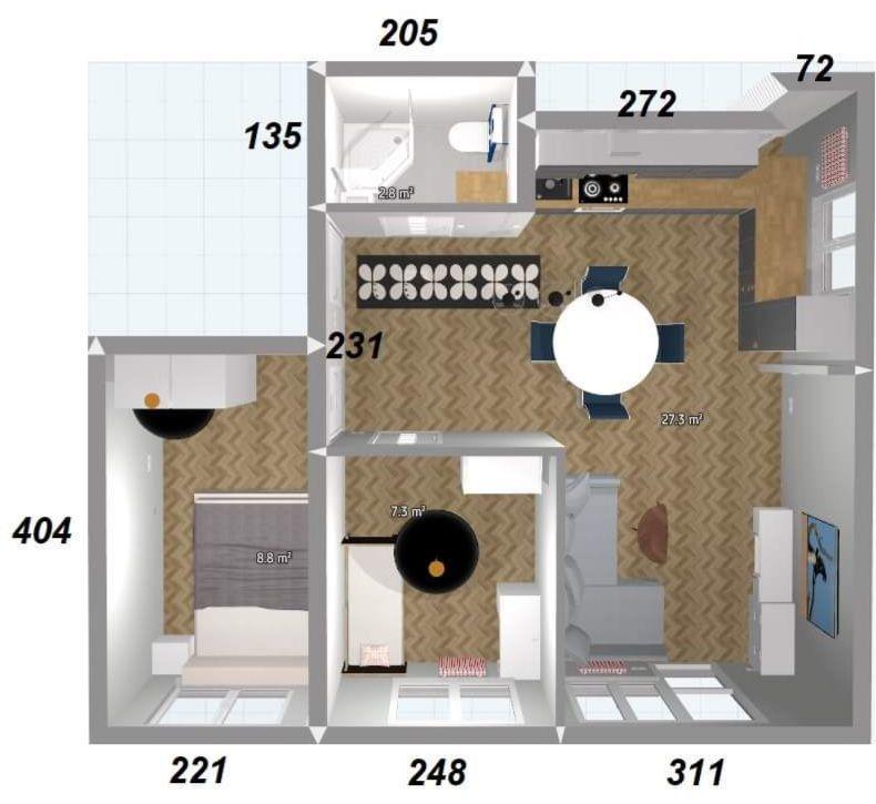 Mieszkanie dla rodziny, 3 pokoje parking