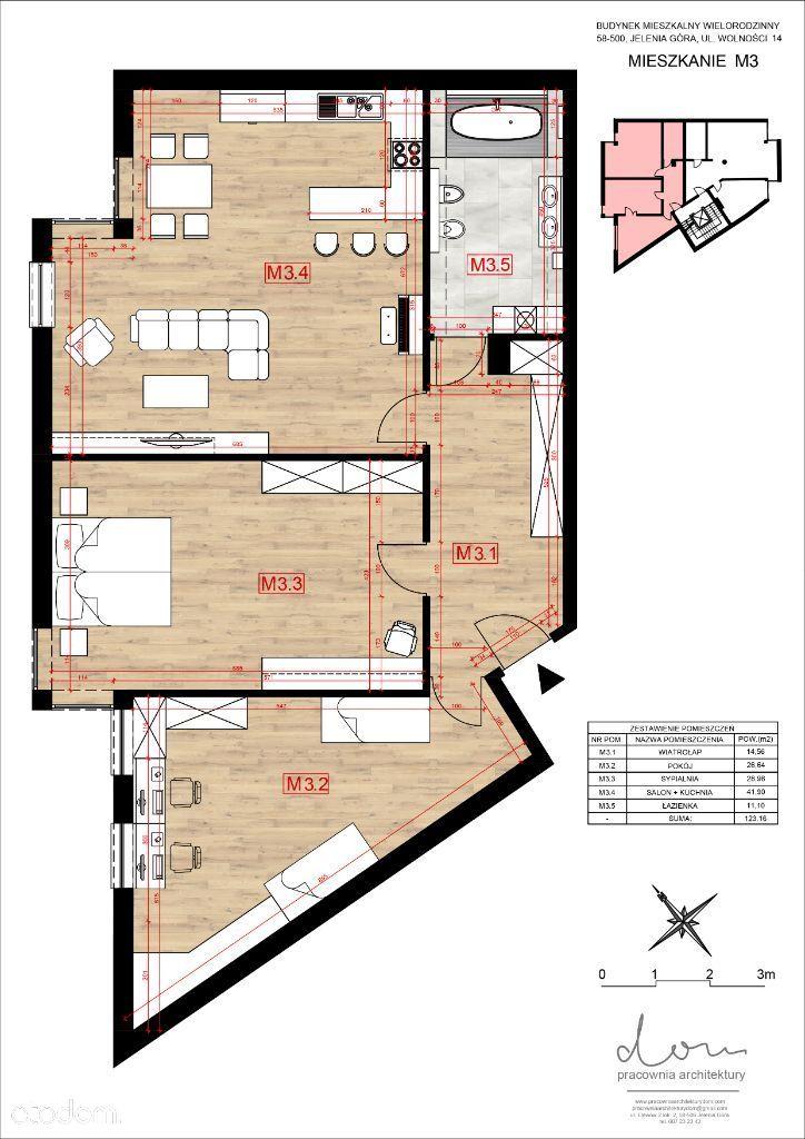 123 m2 Mieszkanie, ścisłe centrum, Jelenia Góra