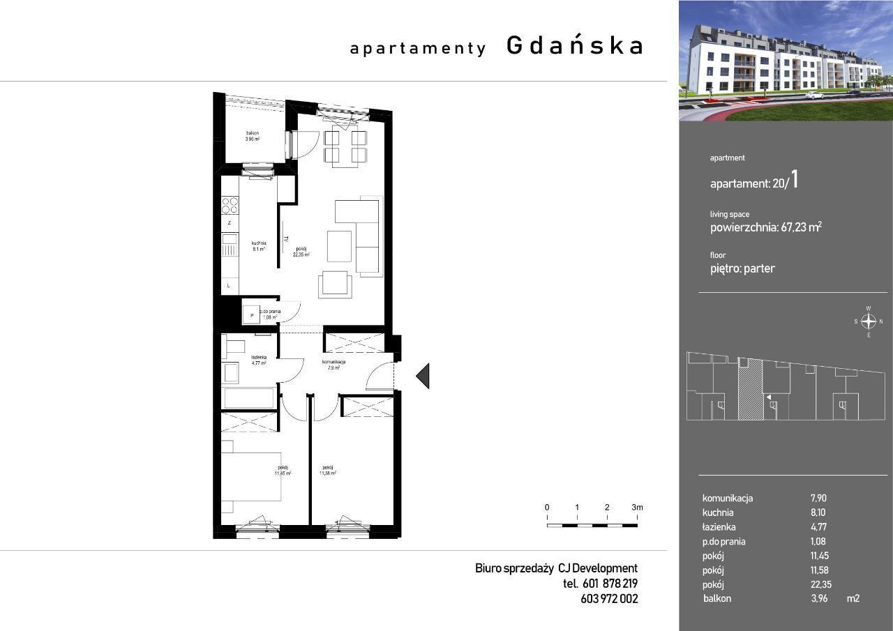 Gotowe mieszkanie z balkonem