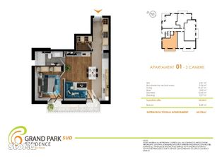 Direct dezvoltator apartament 2 camere Grand Park Sud