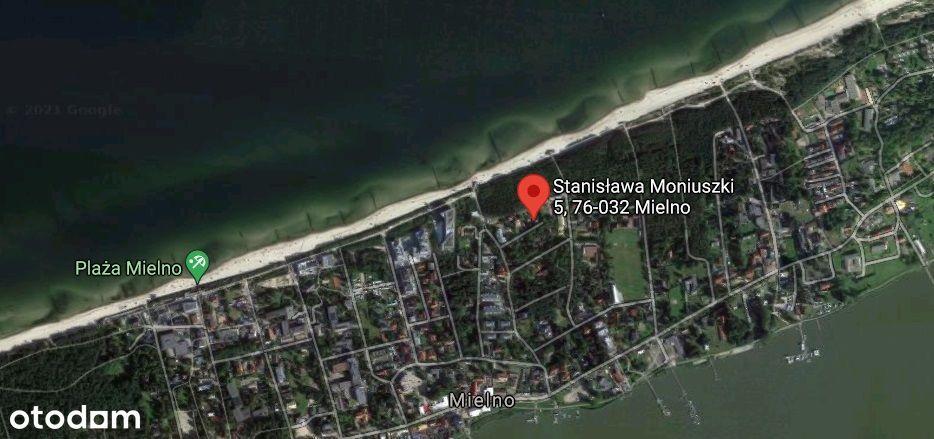 Mielno pierwsza linia zabudowy od morza + 3 domy