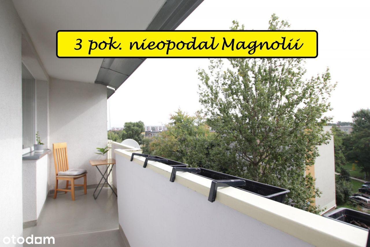 Rozkładowe, 2-stronne 3 pokoje z dużym balkonem