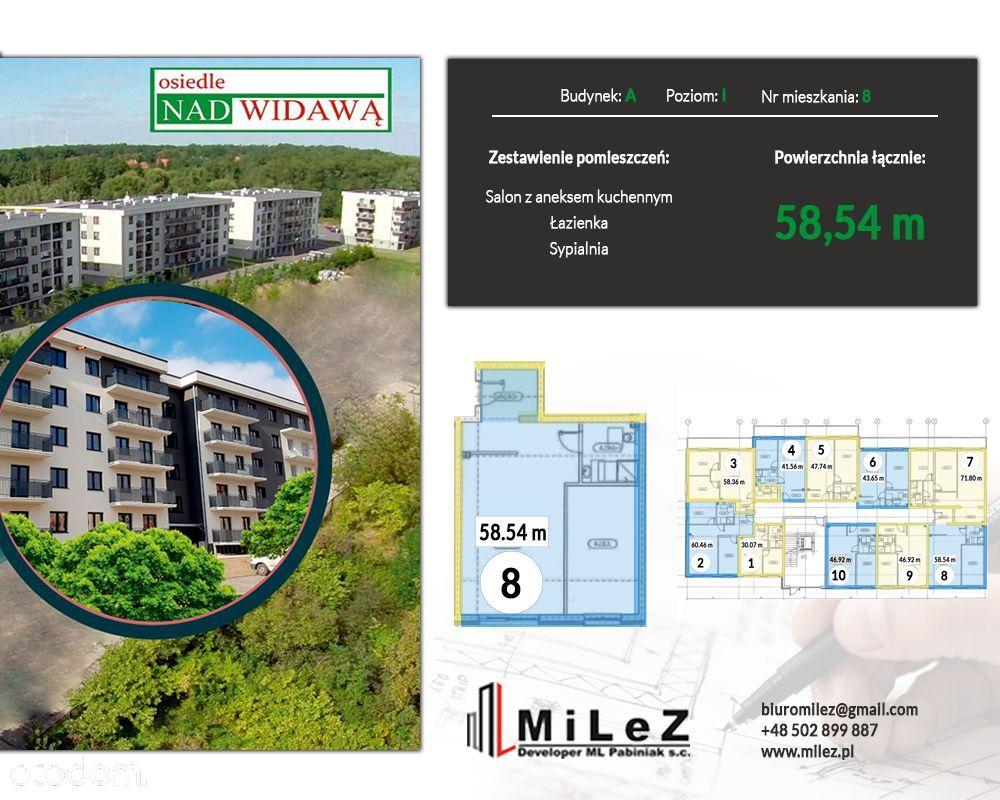 Mieszkanie 2 pokoje o pow. 58,54 m2