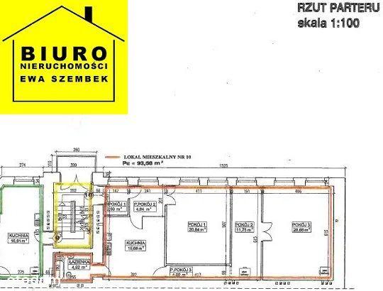 Dietla mieszkanie do remontu 94m2, 3 pokoje !