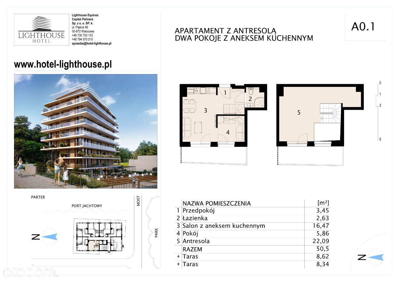 Lighthouse Hotel - Mrzeżyno - Apartament A 0.1