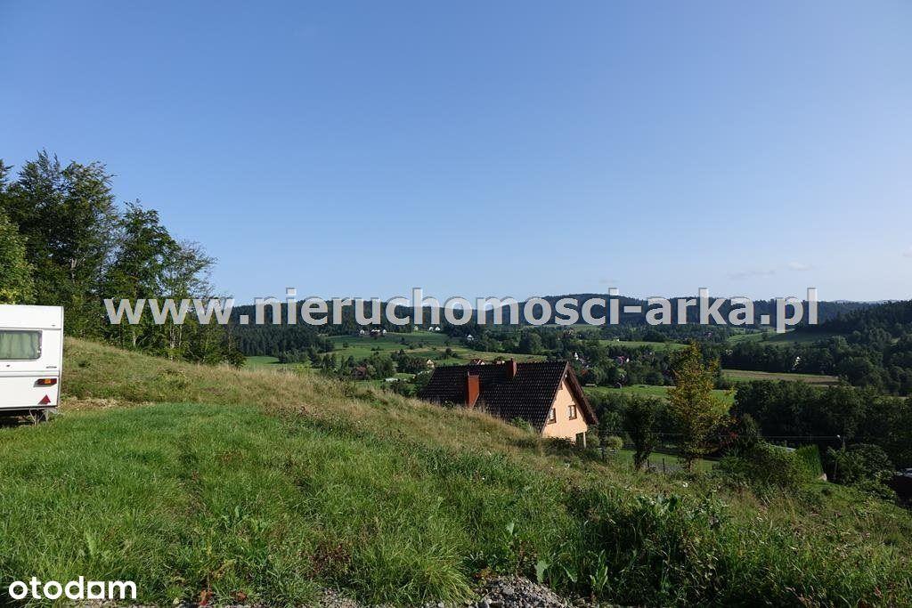 Widokowa działka budowlana u podnóża Ćwilina