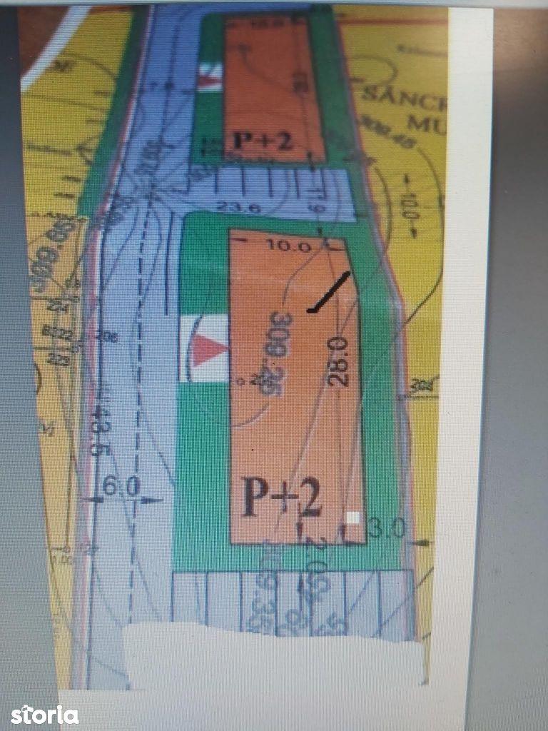 De vanzare teren pentru bloc in Tg Mures zona Podeni