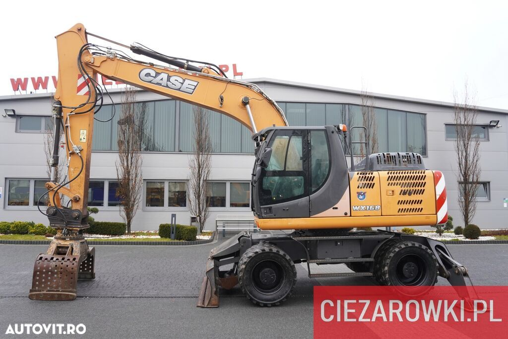 Case WX 168 , 18t , rotator ,grapple , blade ,supports , joystick , A - 1