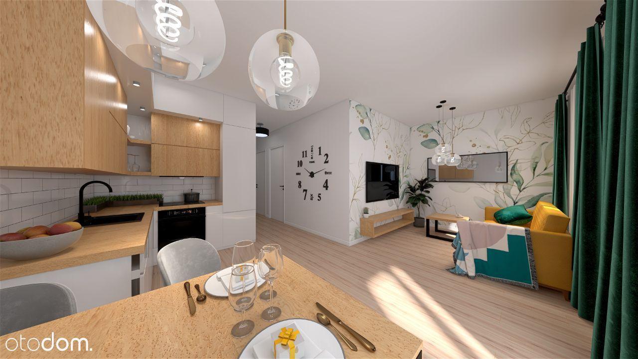 Piękne, trzypokojowe mieszkanie 49,72m2 (ogródek)