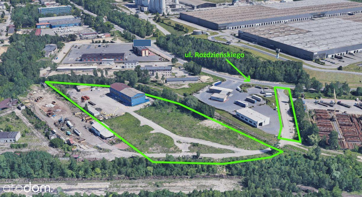Działka przemysłowo-usługowa z halą produkcyjną