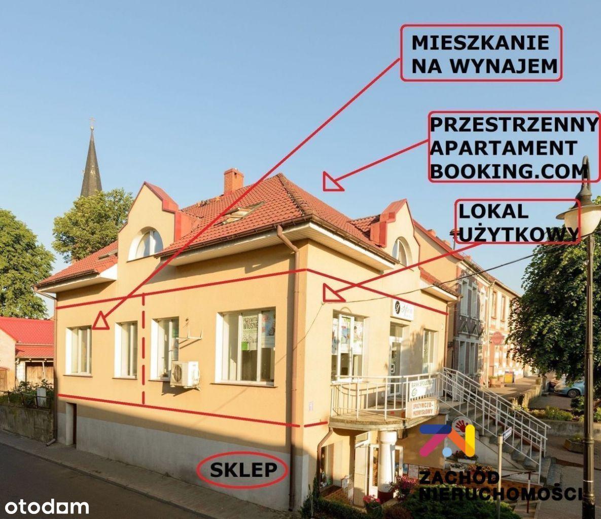 Sklep, pensjonat, usługi. Rynek Lubniewice. Nowa C