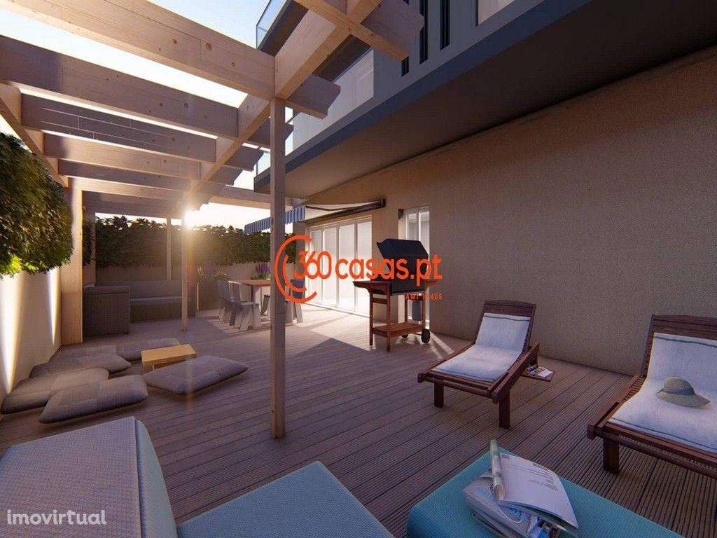 Apartamento novo T3 com terraço de 66m2, garagem e arrecadação em Faro