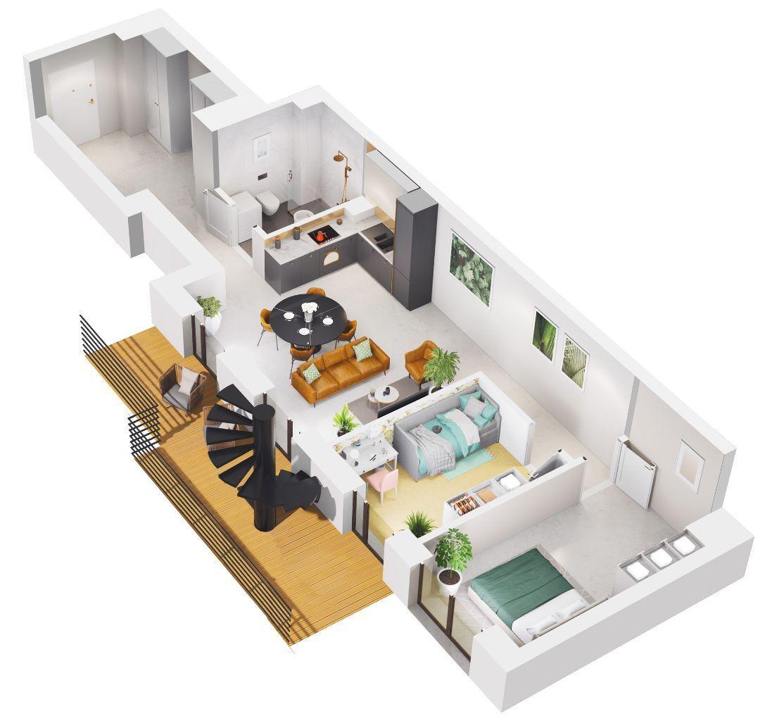 Apartament 3 pokojowy z OGRODEM na DACHU