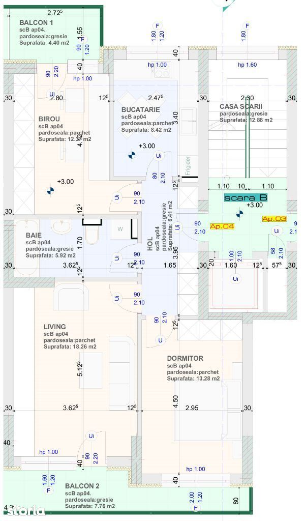 Intabulat, finalizat! 3 camere, 65 mp + 8 mp balcon, nou Brasov