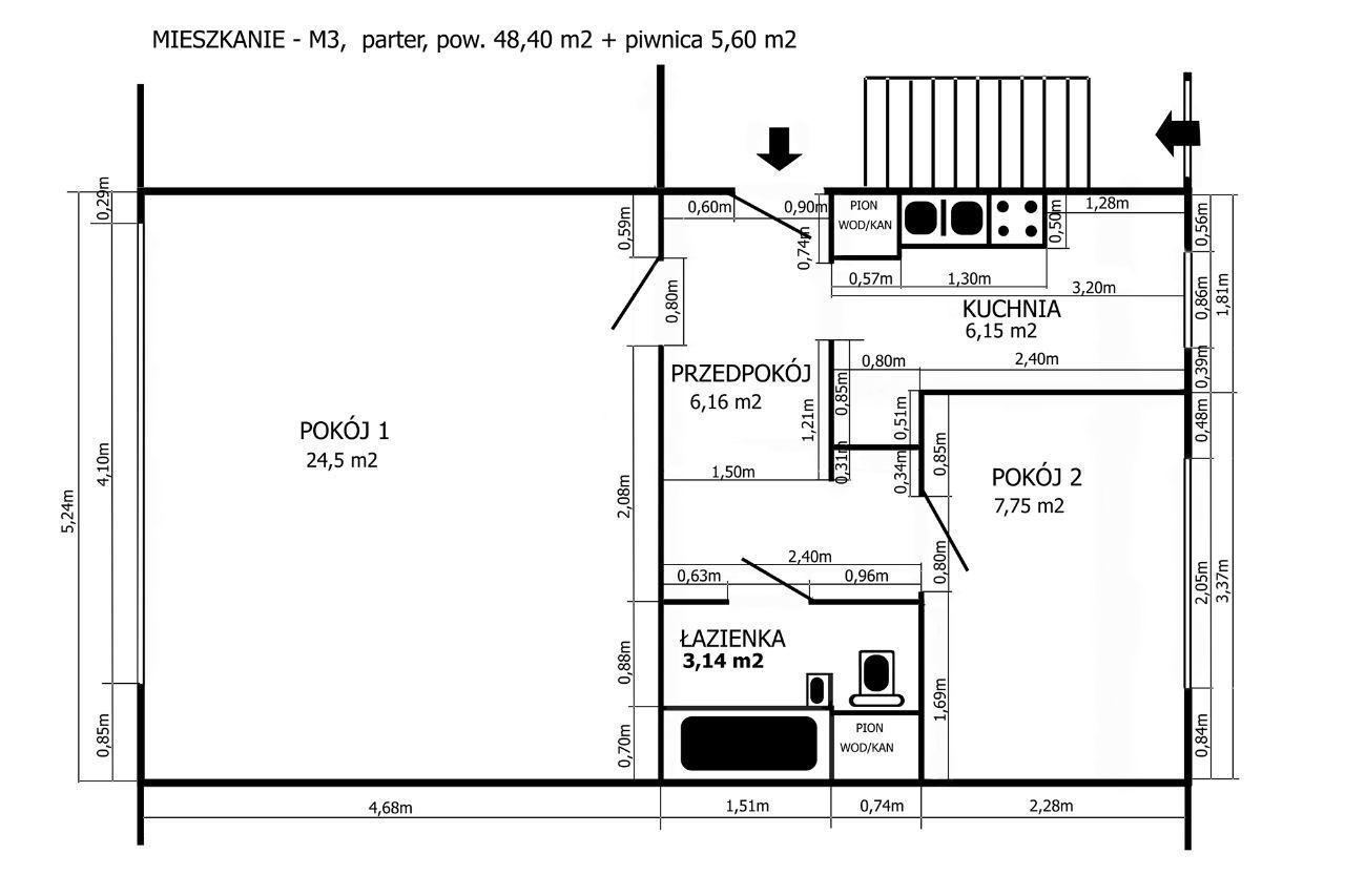 Mieszkanie 48 metrów