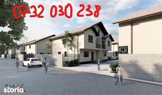 Duplex 130 mp utili,200 teren,4 cam,2 bai, canalizare,asfalt,gaze