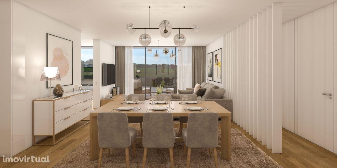 Apartamento T3 novo, com terraço e jardim