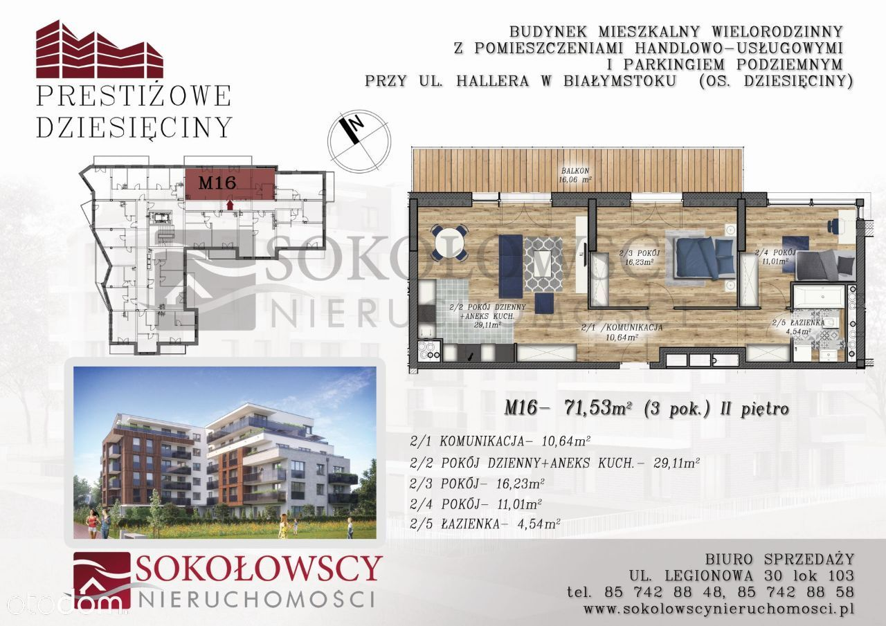 Przestronny apartament 71,53 m2, z tarasem 16 m2