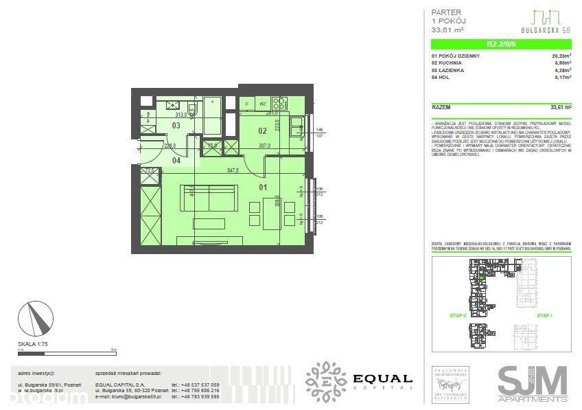 Bułgarska 59, 33,50 m2, Grunwald => GOTOWE i NOWE