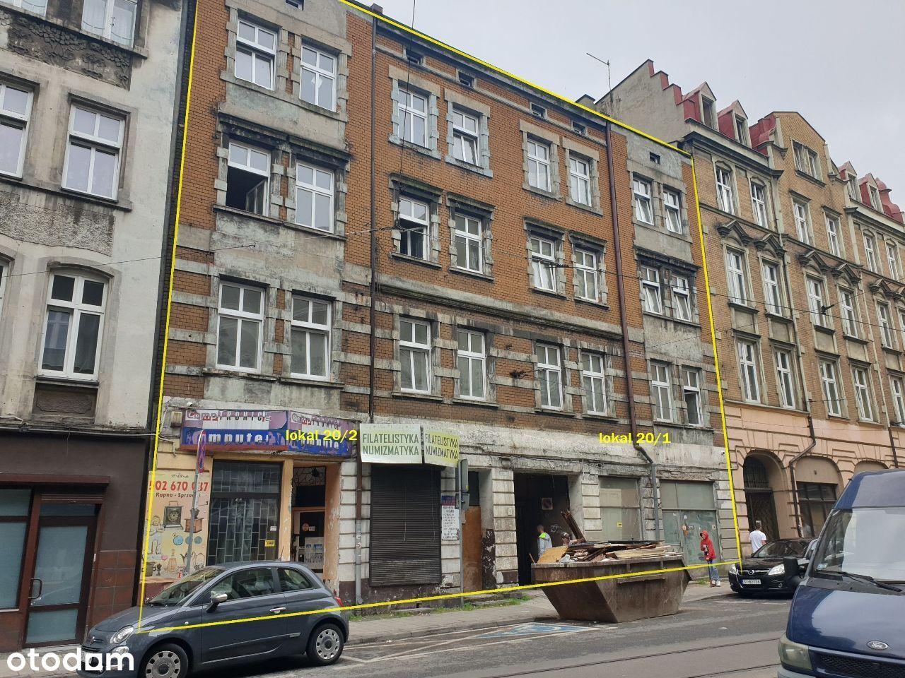 Lokal centrum Chorzowa Kamienica w trakcie remontu