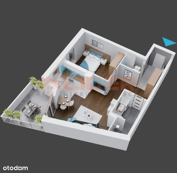 Mieszkanie w stanie deweloperskim Apartamentowiec