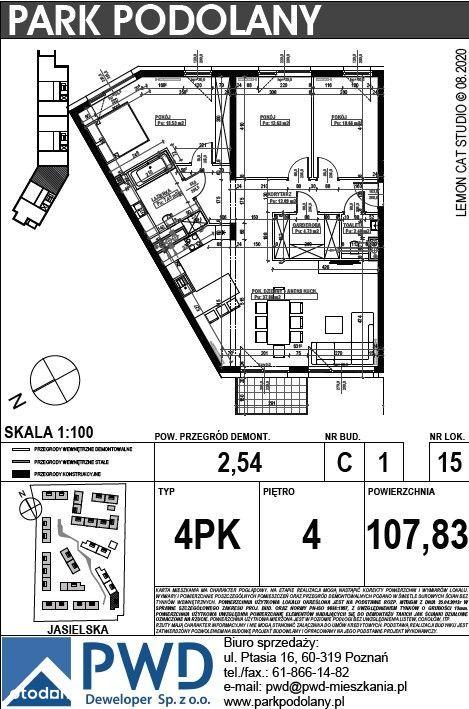 Park Podolany etap C mieszkanie 4 - pokojowe