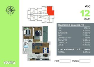 Valcom Residence, 3 camere , Comision 0%