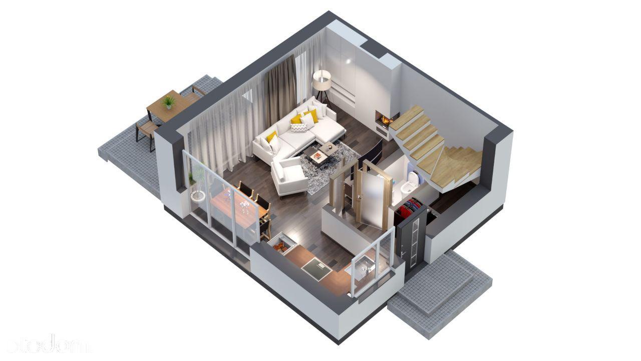 Invest Complex 61.62m2 niezwykłe mieszkanie+ogród
