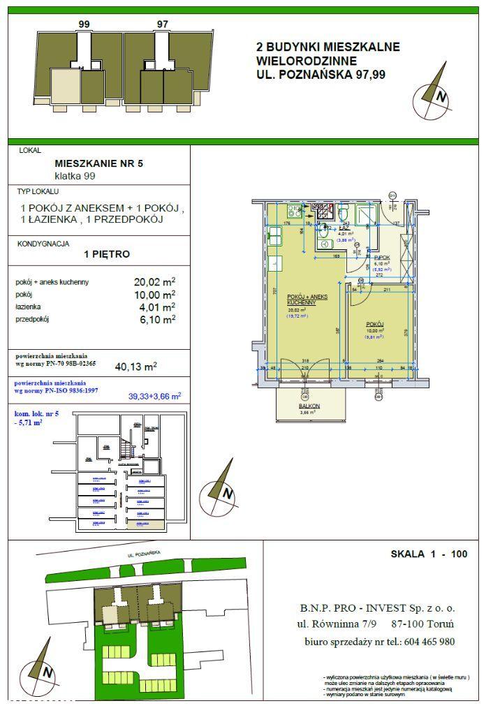 Poznańska 99 Mieszkanie 40,13m2