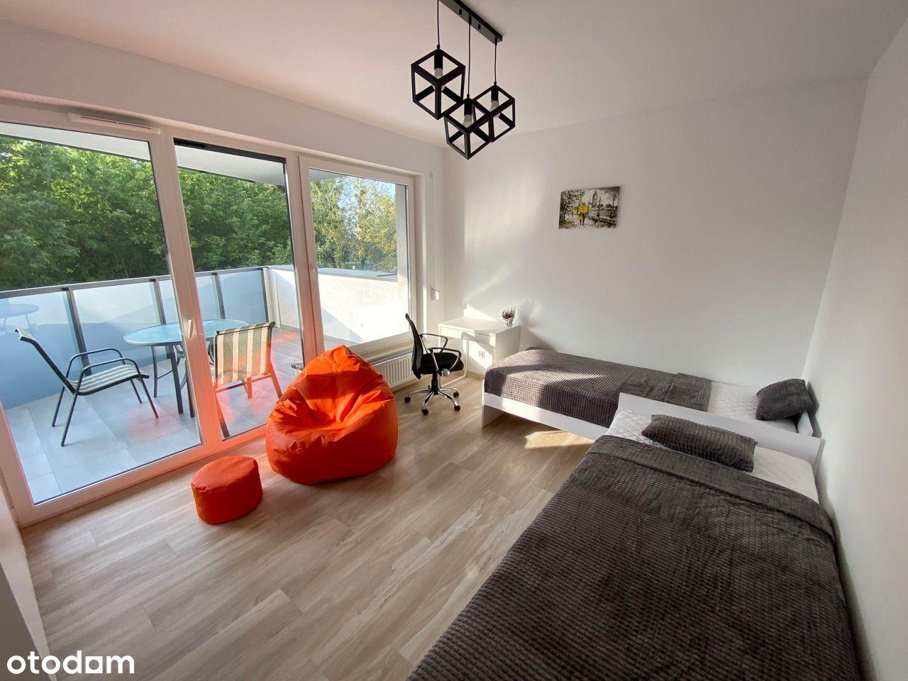 Pokój dla 2 osób w nowym apartamentowcu obok UMK