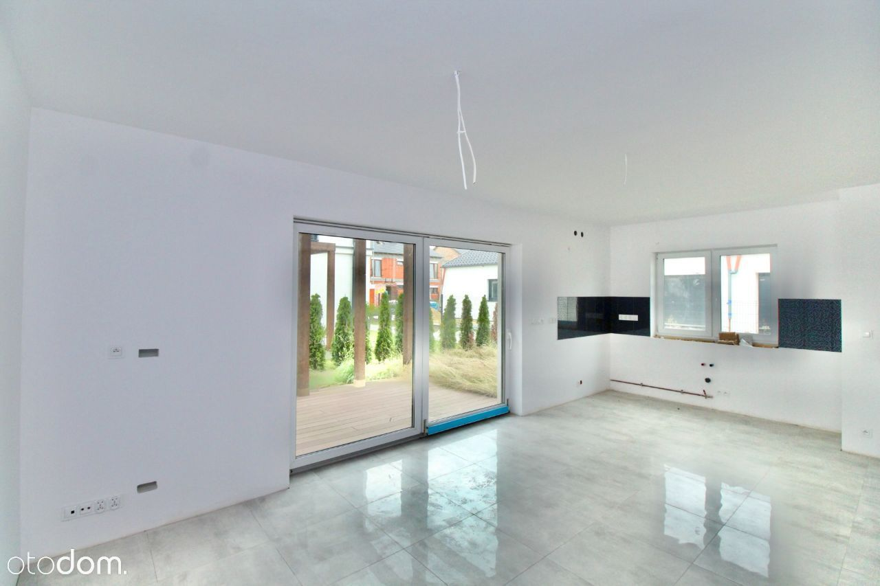 Lusówko wykończony apartament 94 m2 ogródek, taras