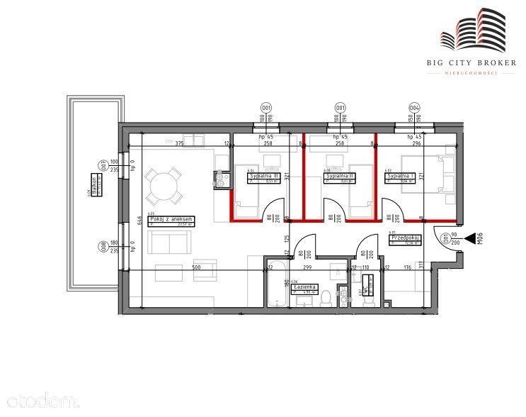 Mieszkanie z rynku pierwotnego 4 pokoje, Ponikwoda