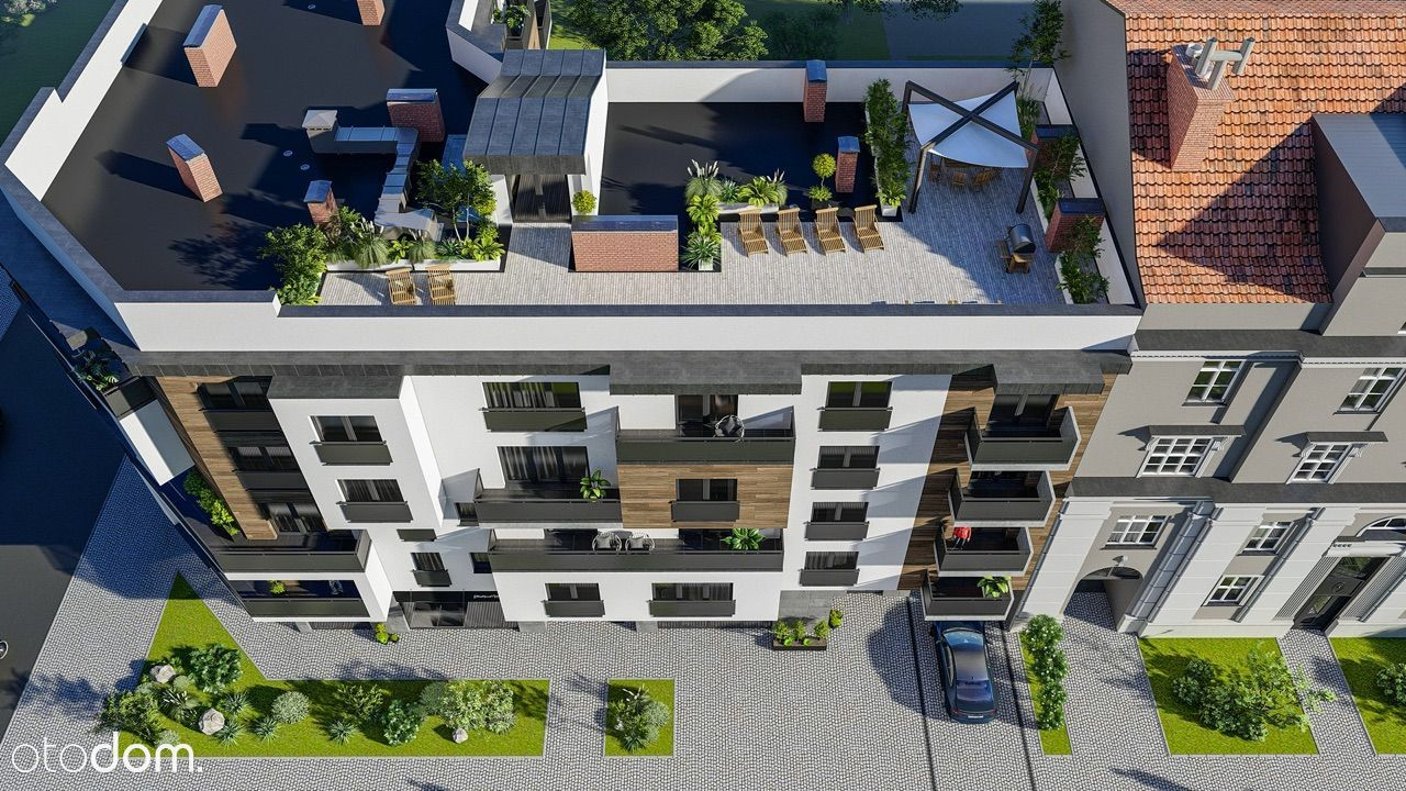 Apartament z ogrodem na dachu w centrum miasta