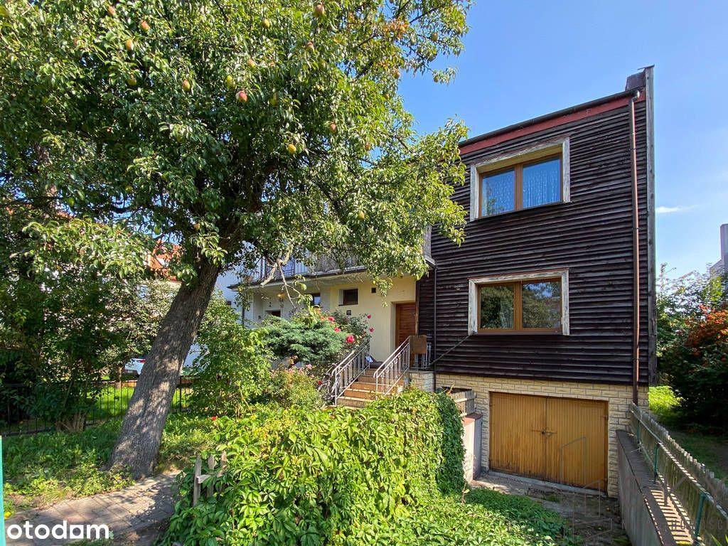 Dom typu bliźniak, 126m², zielone Sępolno