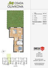 Dwupokojowe mieszkanie 50,5m2 z ogrodem !