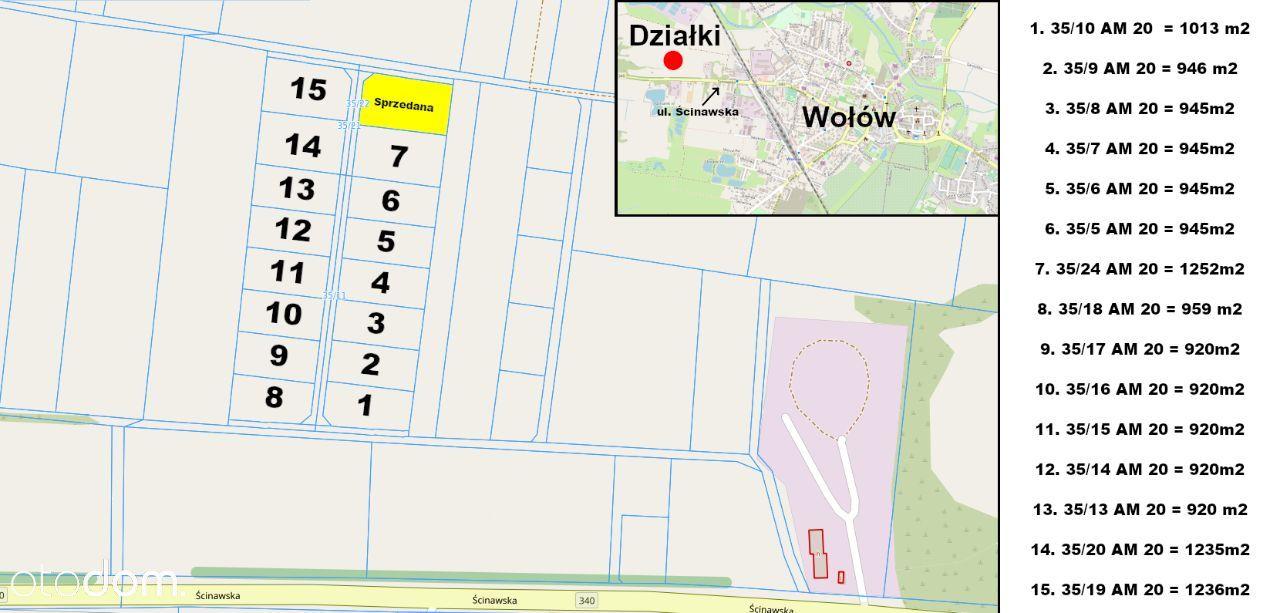 15 atrakcyjnych działek budowlanych w Wołowie