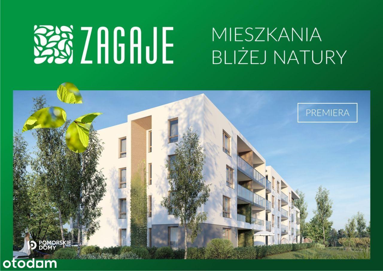 Zagaje - nowe mieszkanie 2-pokojowe (33,6 m2)