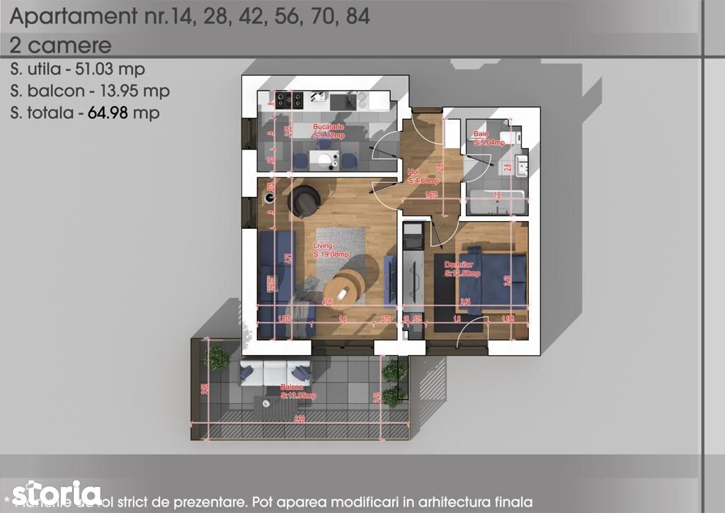 Apartament 2 camere -Metrou 1 Dec 1918 Sector 3-Parcul Teilor