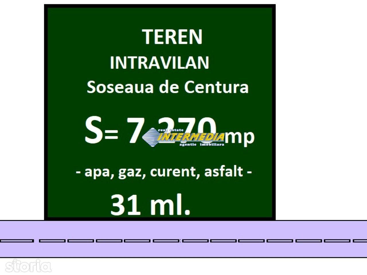 Teren Intravilan Soseaua de Centura Alba Iulia 7270 mp cu deschidere