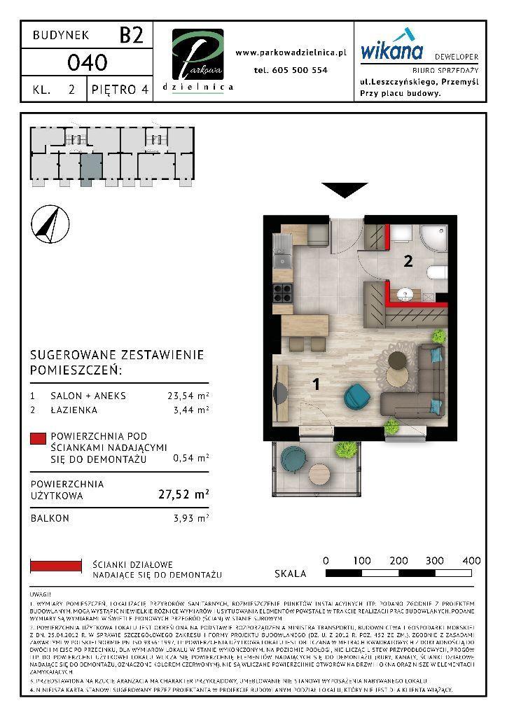 Mieszkanie nr 40 Budynek B2