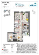 3 pokoje + kuchnia , Wrotków, Os. Marina Etap B4-B
