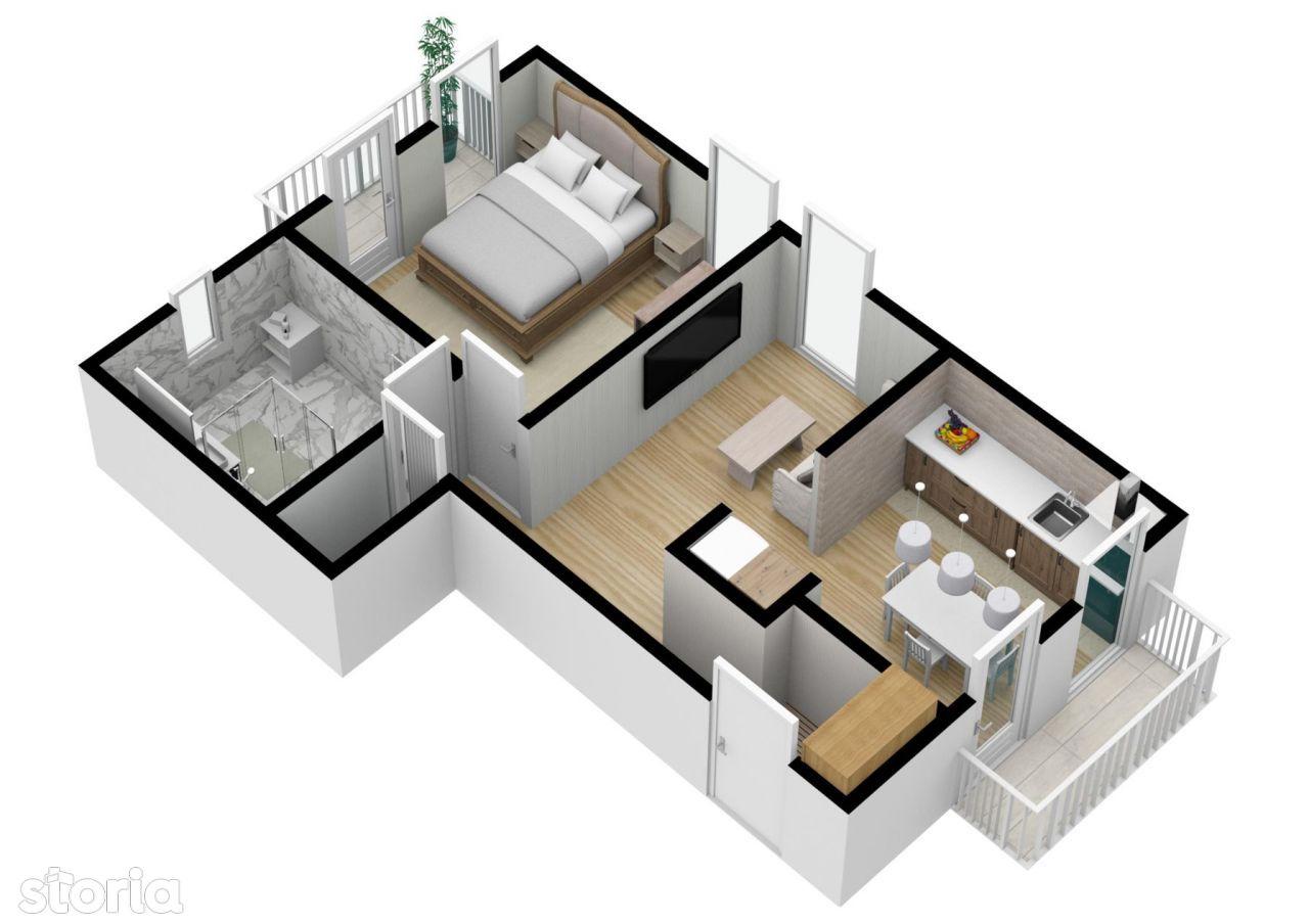 Etaj 1   Apartament 2 camere   40 mpu   Calea Cisnadiei