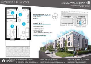 Dwupokojowe mieszkanie z ogródkiem (B.01)