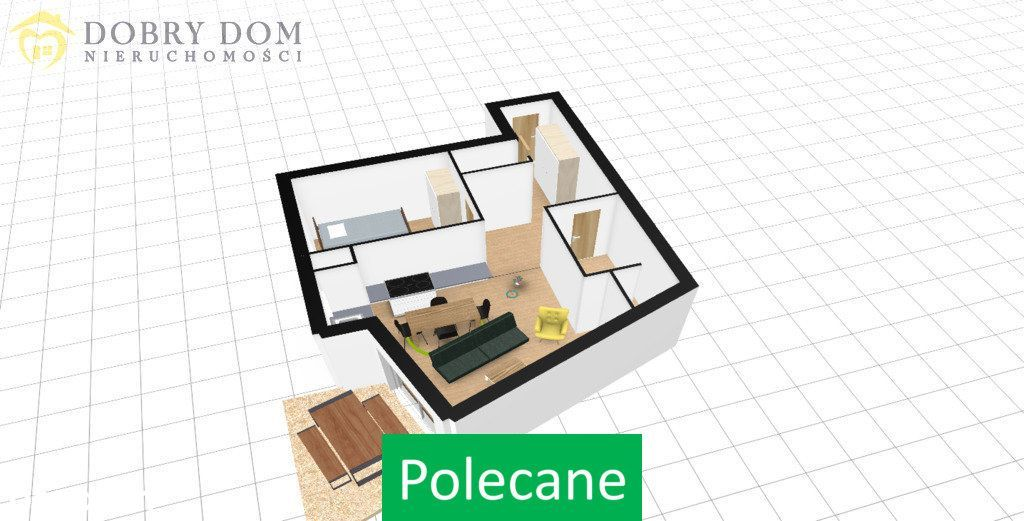 Mieszkanie, 58,41 m², Mońki