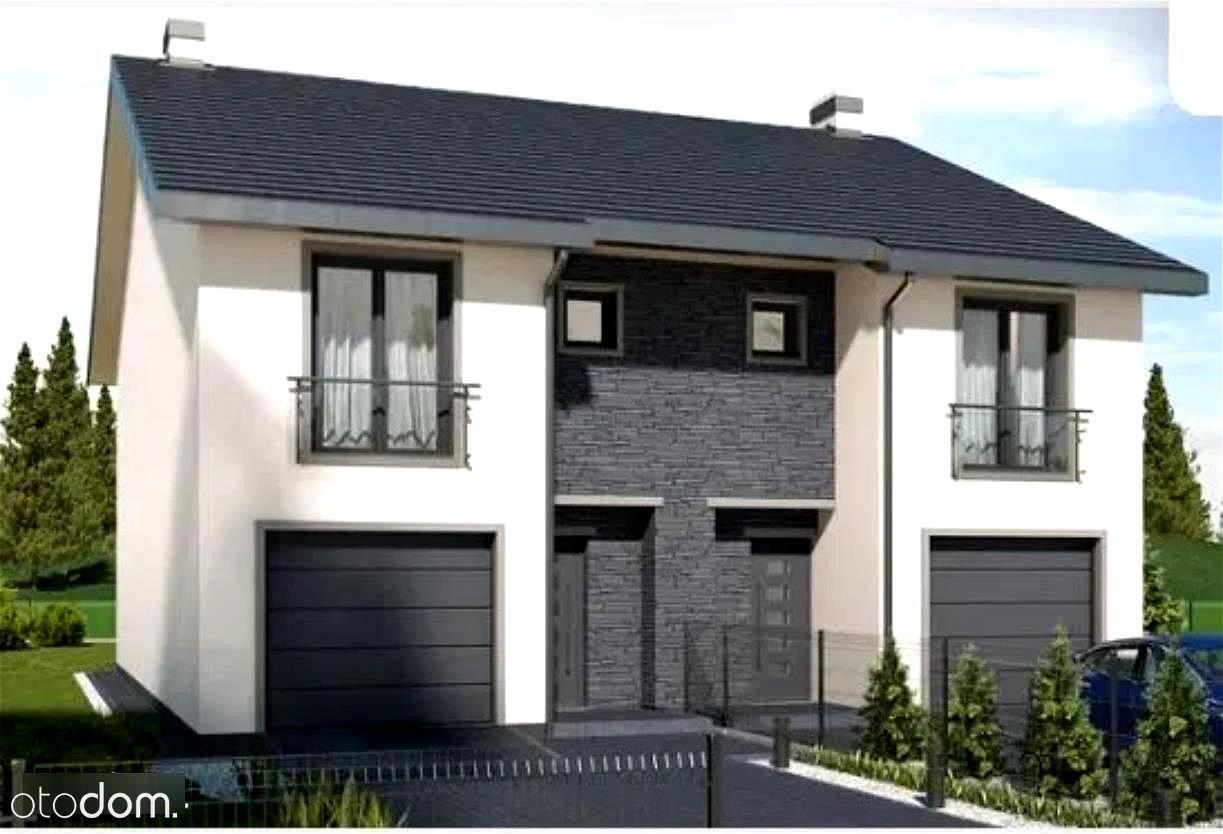 Nowy dom jednorodzinny w zabudowie bliźniaczej w b