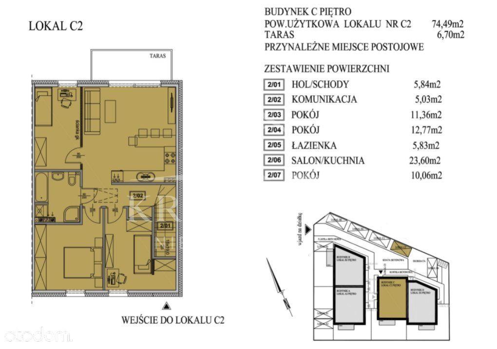 Apartamen w Mierzynie za 6700 zł./m2 z tarasem