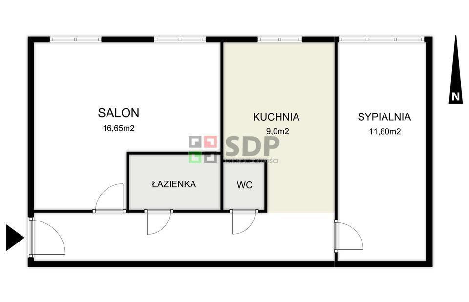 2 pokoje 46/m2 Widok Na Park