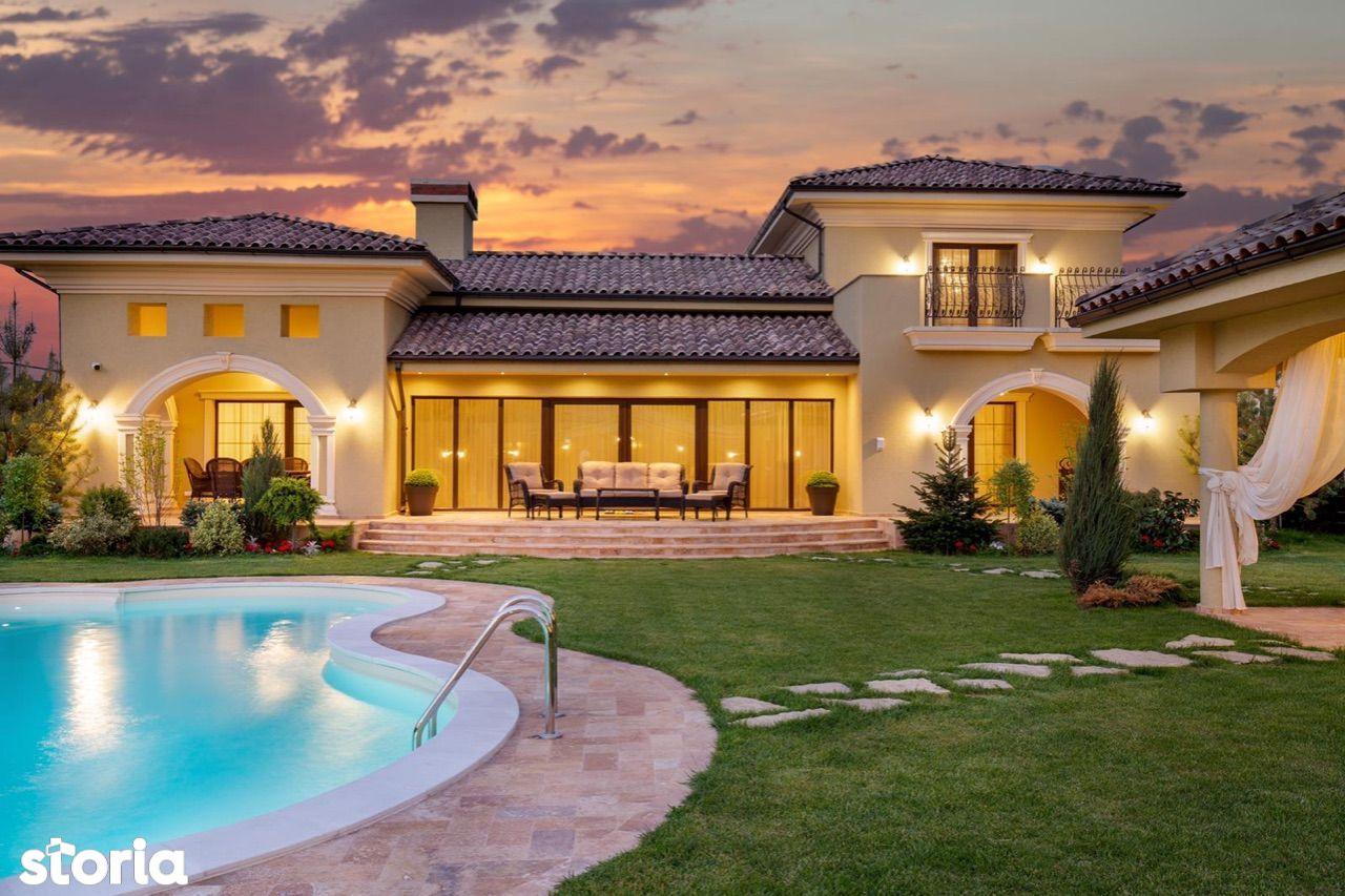 Casa stil mediteranean - complet mobilata si utilata - PIPERA-TUNARI