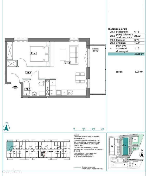 Apartament 44m2, 2 pokoje, Prestiżowe Osiedle!
