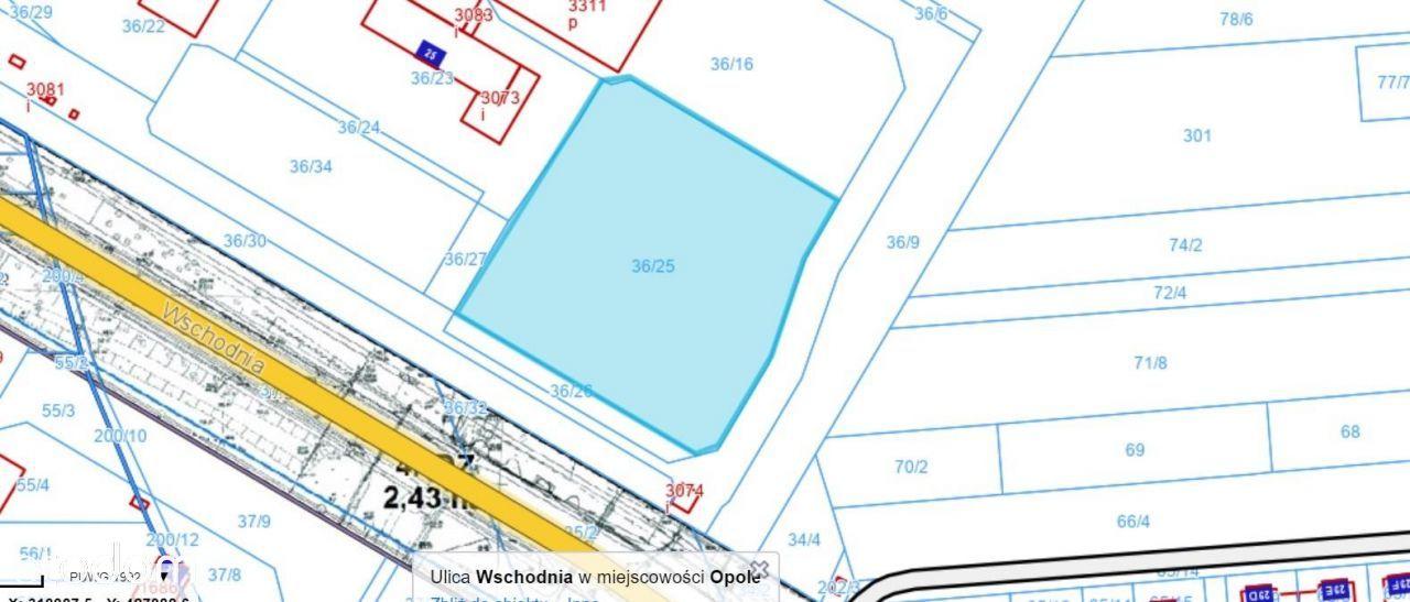 Działka, 6 333 m², Opole